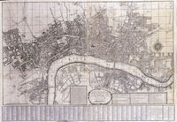 A New And Exact Plan Of The City's Of London And Westminster ... : G.Willdey / T.Jefferys