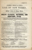 George Philip & Son's List Of New Works ... : G.Philip & Son