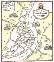 A Plan Of The City of Londonderry in Northern Ireland : A. E. Taylor