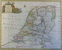 A New And Correct Map Of The Seven United Provinces ... : E. Bowen