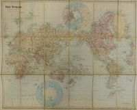 The World On Mercator's Projection Showing The British Possessions : E. Stanford