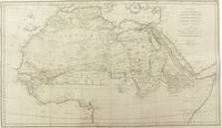 A Map, Shewing The Progress Of Discovery & Improvement, In The Geography Of North Africa: Compiled By J. Rennell, 1798. Corrected in 1802. : J. Rennell / J. Walker