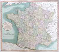 A New Map Of France, Agreeable To Its Division Into Provinces,