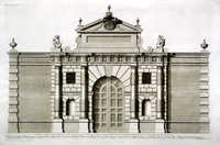 The Great Gate At Burlington House In Pickadilly ...