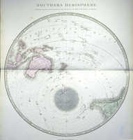 Southern Hemisphere Projected On The Plane Of The Horizon Of The Antipodes Of Lo
