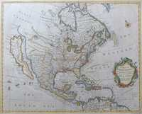 A Map Of North America With The European Settlements ...