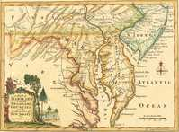 A Map Of Maryland With The Delaware Counties ... New Jersey ...