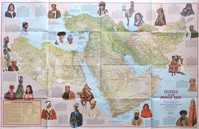A Cultural Map Of The Middle East /  Peoples Of The Middle East