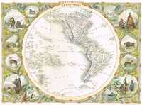 Eastern Hemisphere / Western Hemisphere (Pair of World maps)