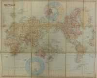 The World On Mercator's Projection Showing The British Possessions