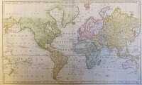 A New Mercator's Chart Drawn From The Latest Discoveries