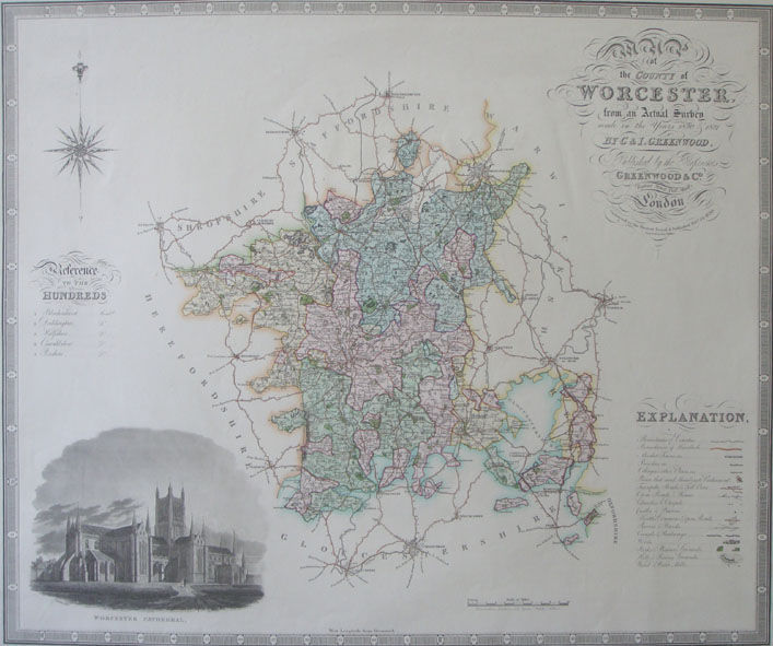 Jonathan Potter Map Map Of The County Of Worcester