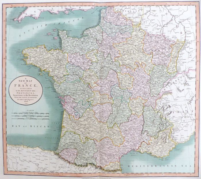 Map Of France Provinces.Jonathan Potter Map A New Map Of France Agreeable To Its
