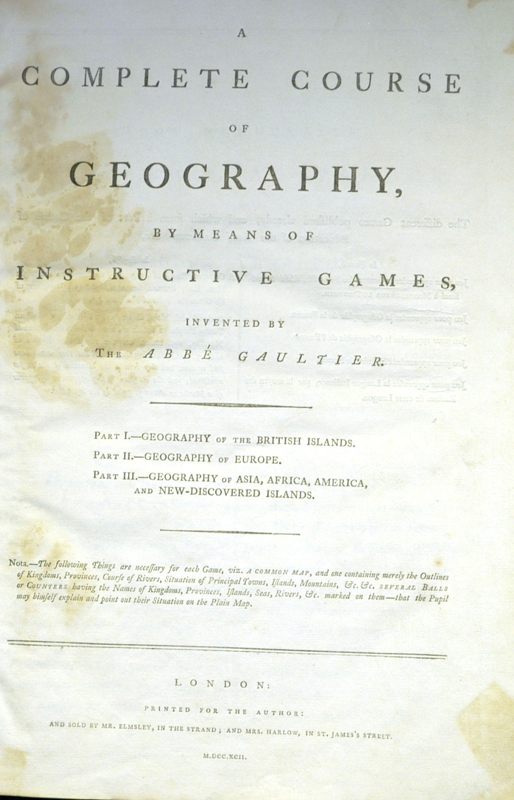 Jonathan Potter Map A Complete Course Of Geography By Means Of
