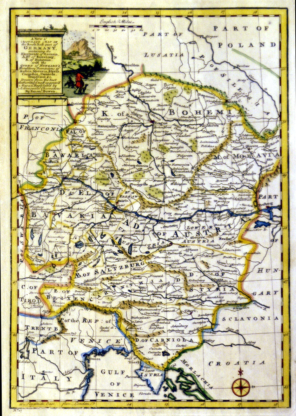 Map Of South Germany.Jonathan Potter Map A New And Accurate Map Of The South East Part