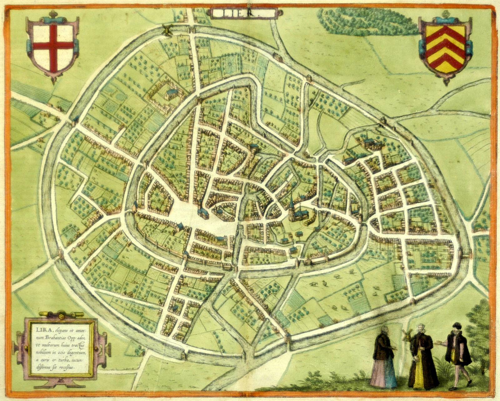 Jonathan Potter: Map : Lier. Lira, Elegans Et Amoenum Brabantiae Opp ...