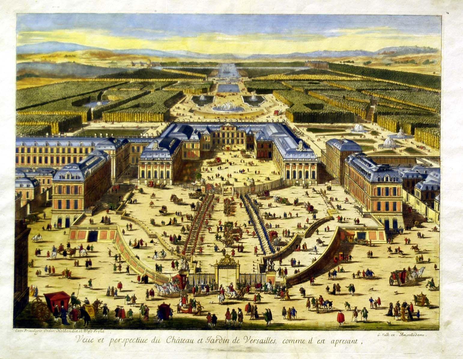 Jonathan potter map veue et perspective du chateau et for Jardin chateau de versailles