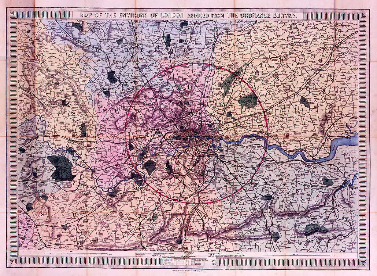 Map Over London.Jonathan Potter Map Map Of The Environs Of London Reduced From
