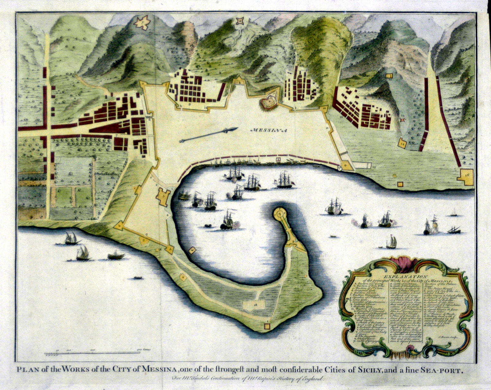 Jonathan Potter Map Plan Of The Works Of The City Of Messina