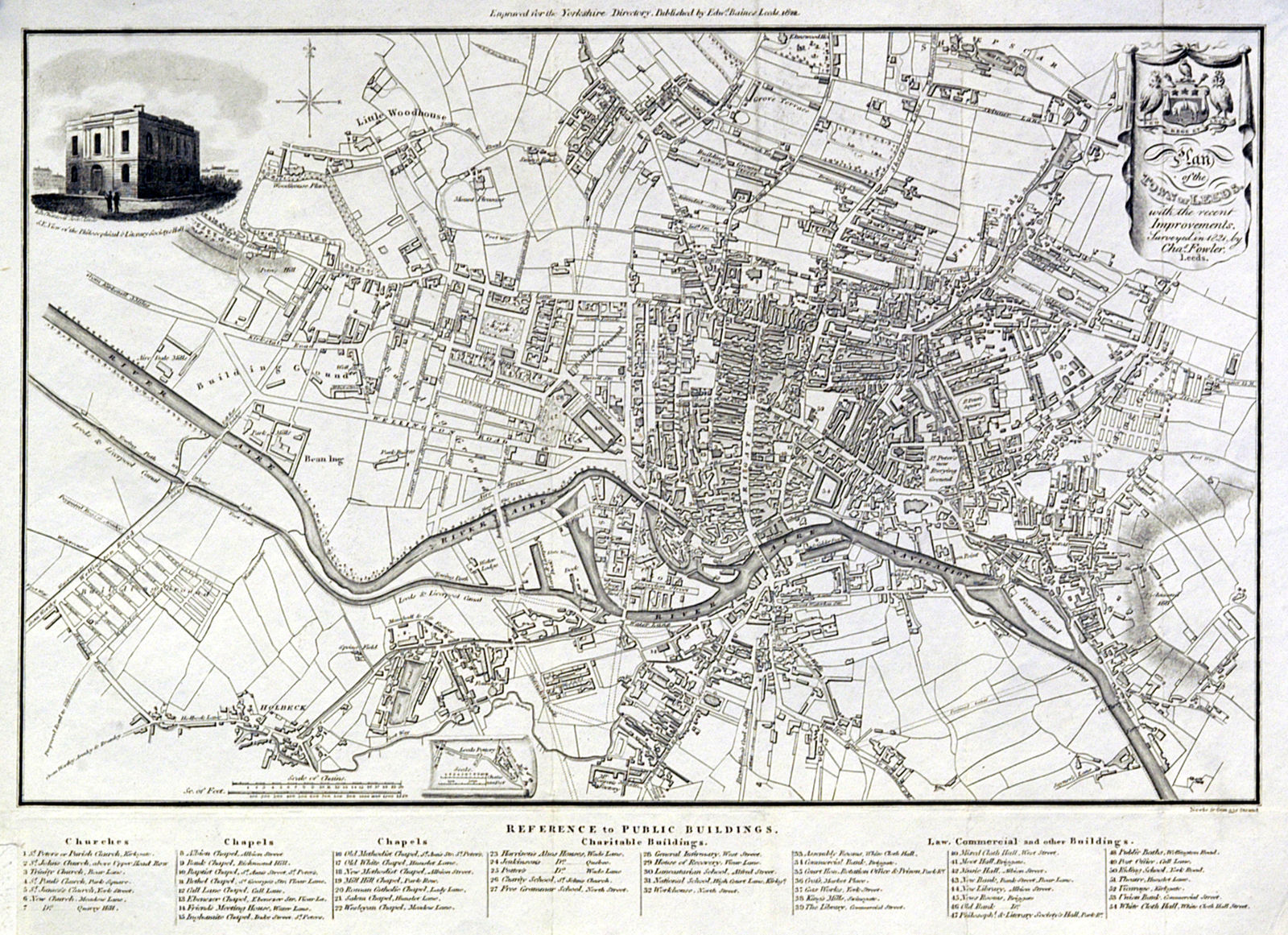 Jonathan Potter Map Plan Of The Town Of Leeds With The Recent