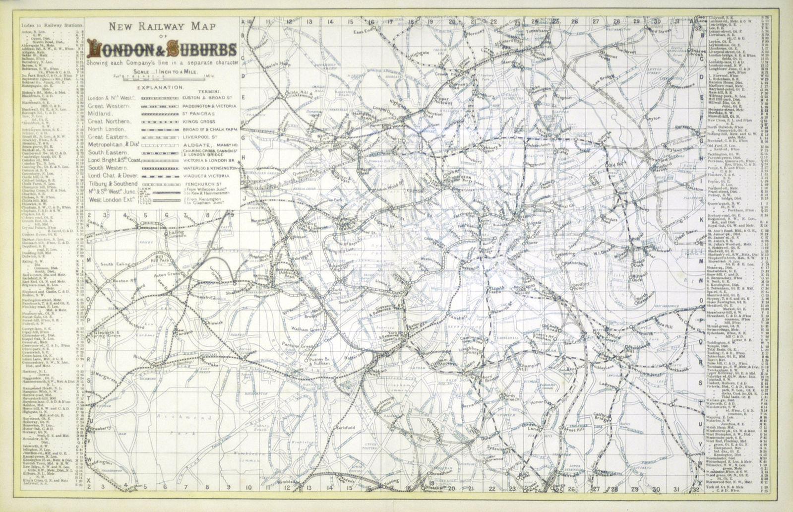 Map Of London And Surrounding Suburbs.Jonathan Potter Map New Railway Map Of London Suburbs