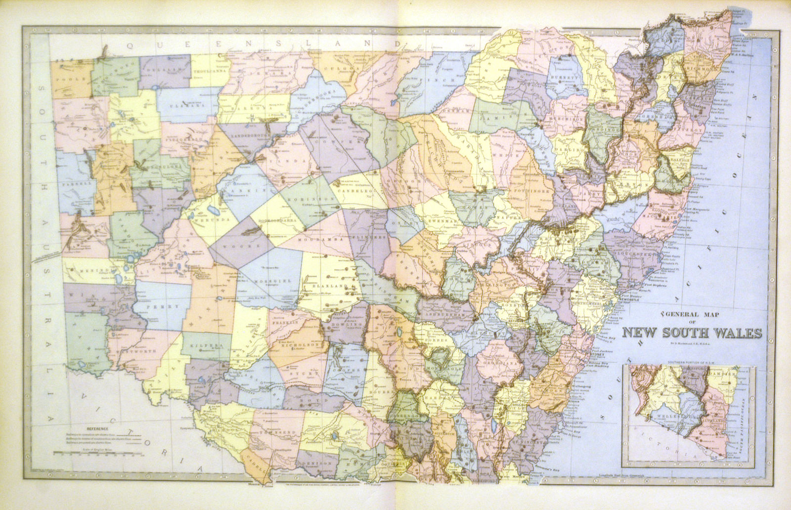 Picture of: Jonathan Potter Map General Map Of New South Wales