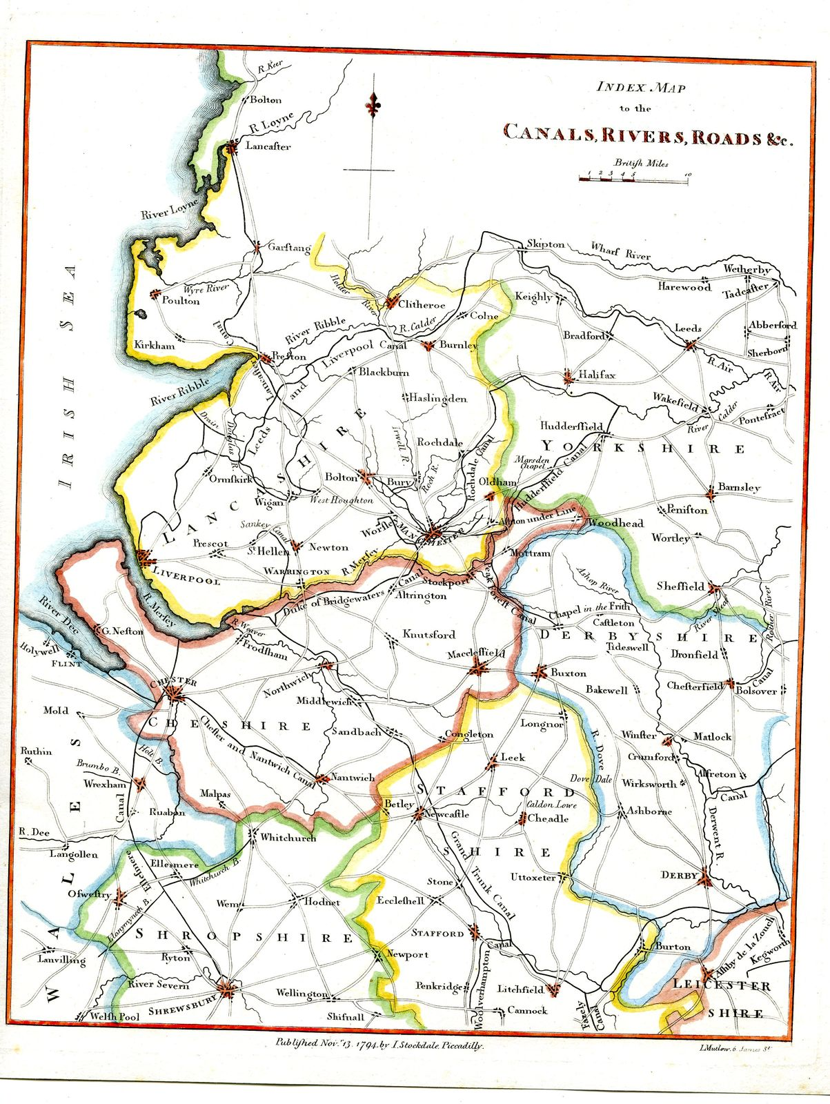 Map Of Uk Rivers And Canals.Jonathan Potter Map Index Map To The Canals Rivers Roads C