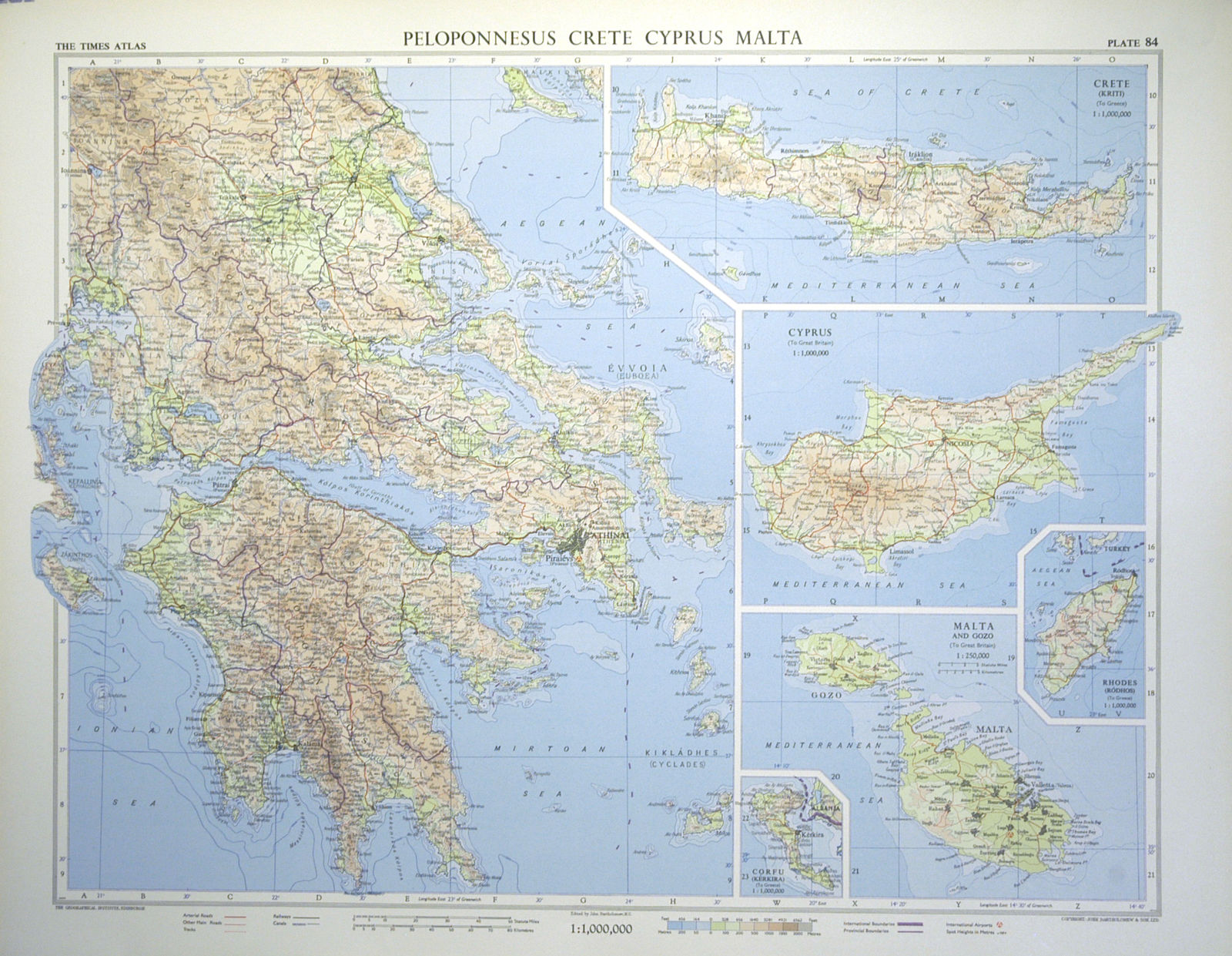 Jonathan Potter Map Peloponnesus Crete Cyprus Malta