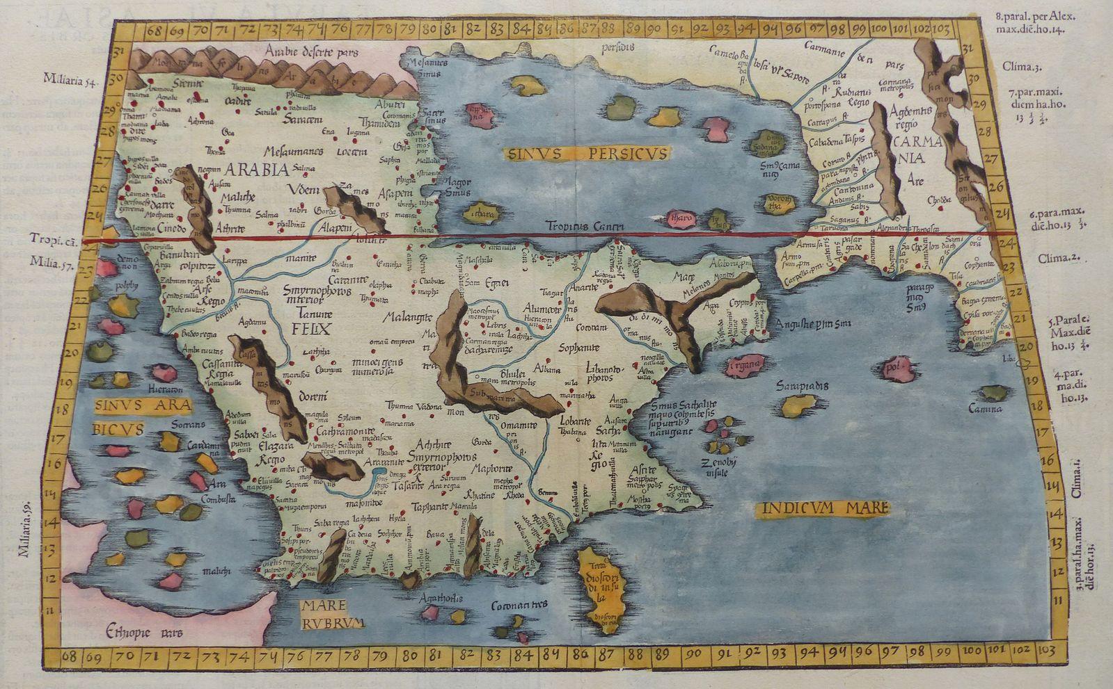 Jonathan Potter Map Untitled Ptolemaic Map Of Arabia Tabula – Map of Arabia