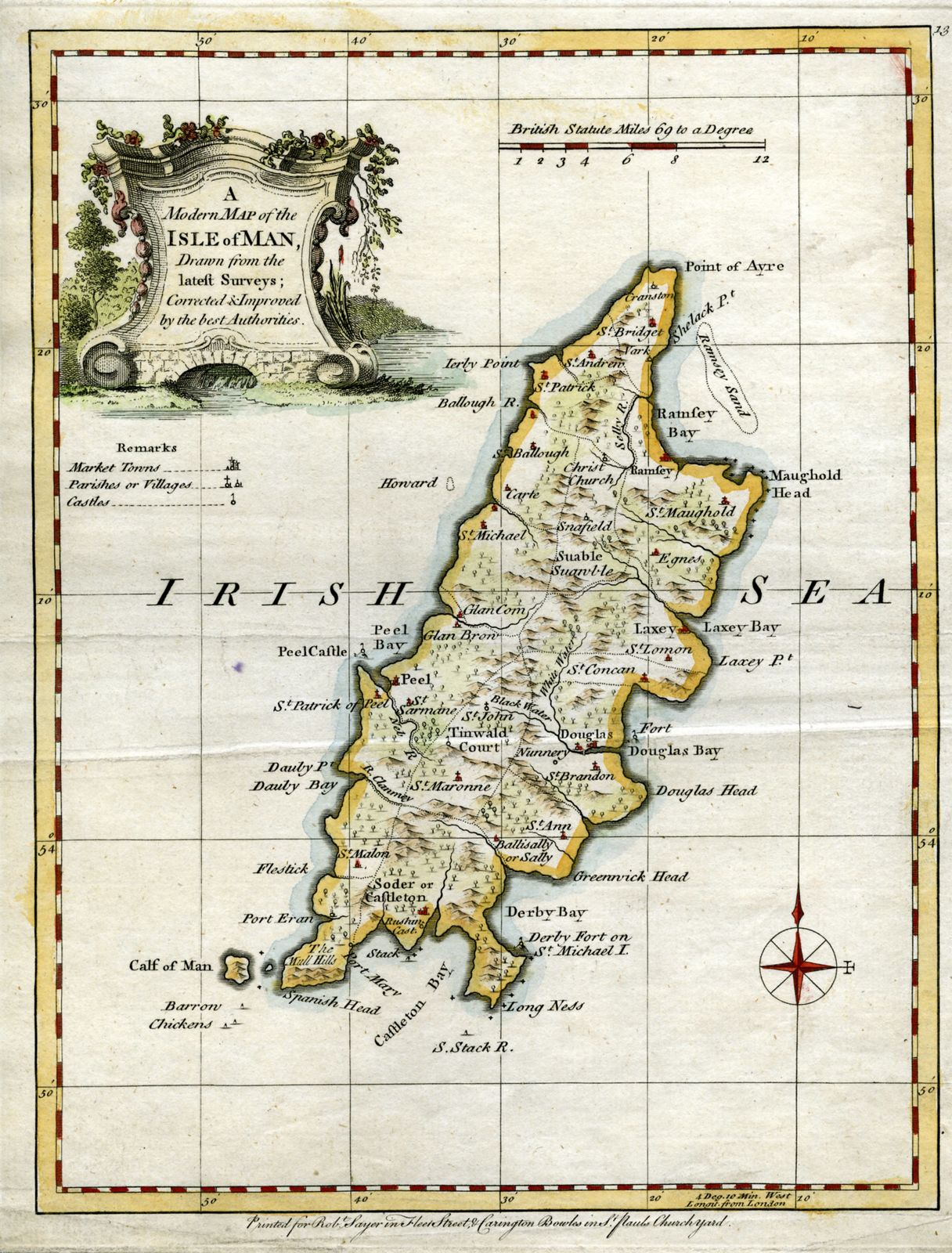 Jonathan Potter Map A Modern Map Of The Isle Of Man - Isle of man map