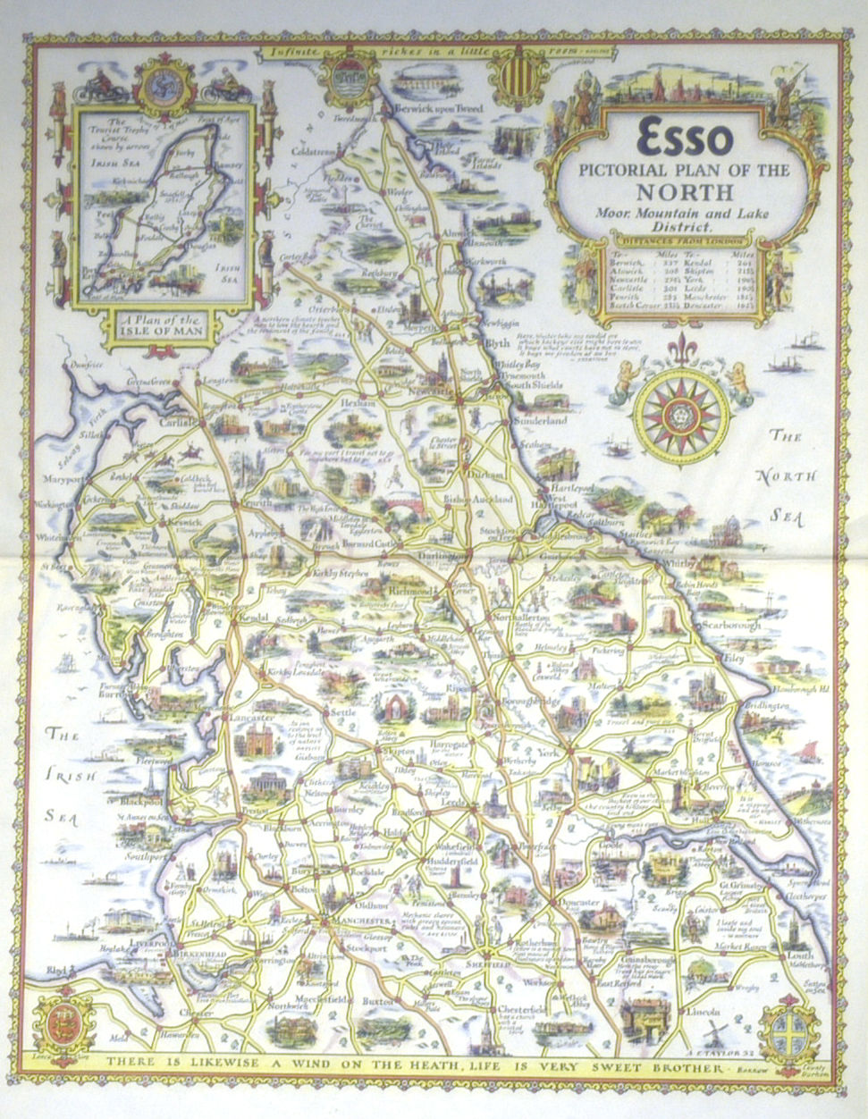 Jonathan Potter Map  Esso Pictorial Plan Of The North Moor