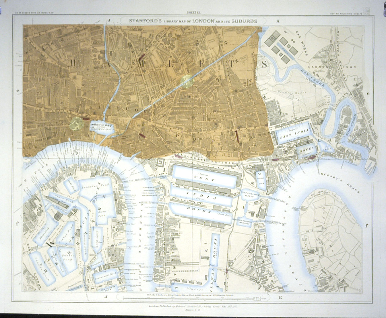London Map Suburbs.Jonathan Potter Map Stanford S Library Map Of London And Its
