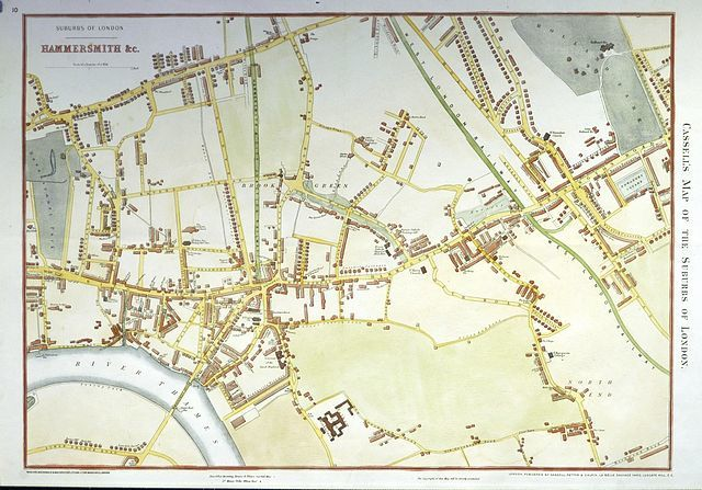 Jonathan Potter Map Cassell S Map Of The Suburbs Of London