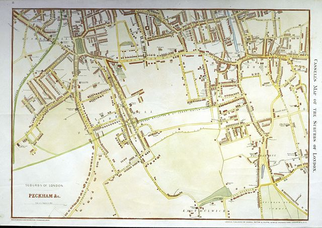 Map Of London And Surrounding Suburbs.Jonathan Potter Map Cassell S Map Of The Suburbs Of London