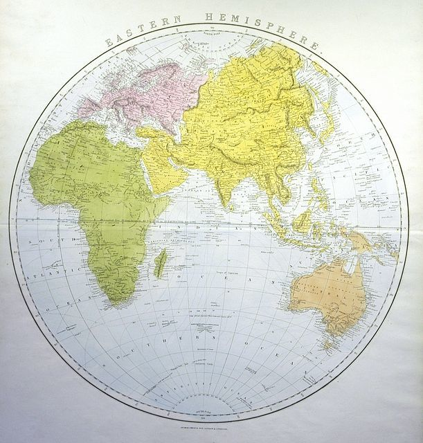 Eastern Hemisphere Map With Names Jonathan Potter...