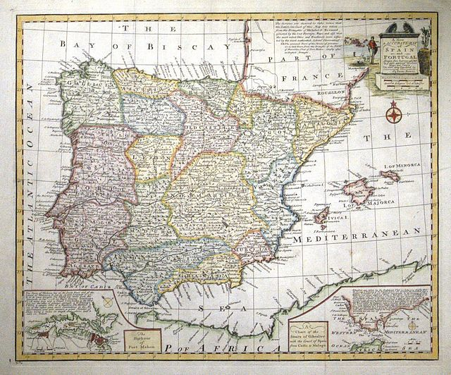 Detailed Map Of Spain In English.Jonathan Potter Map A New Accurate Map Of Spain And Portugal