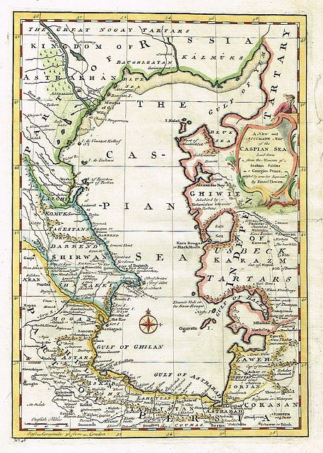 Jonathan Potter: Map : A New & Accurate Map Of The Caspian ...