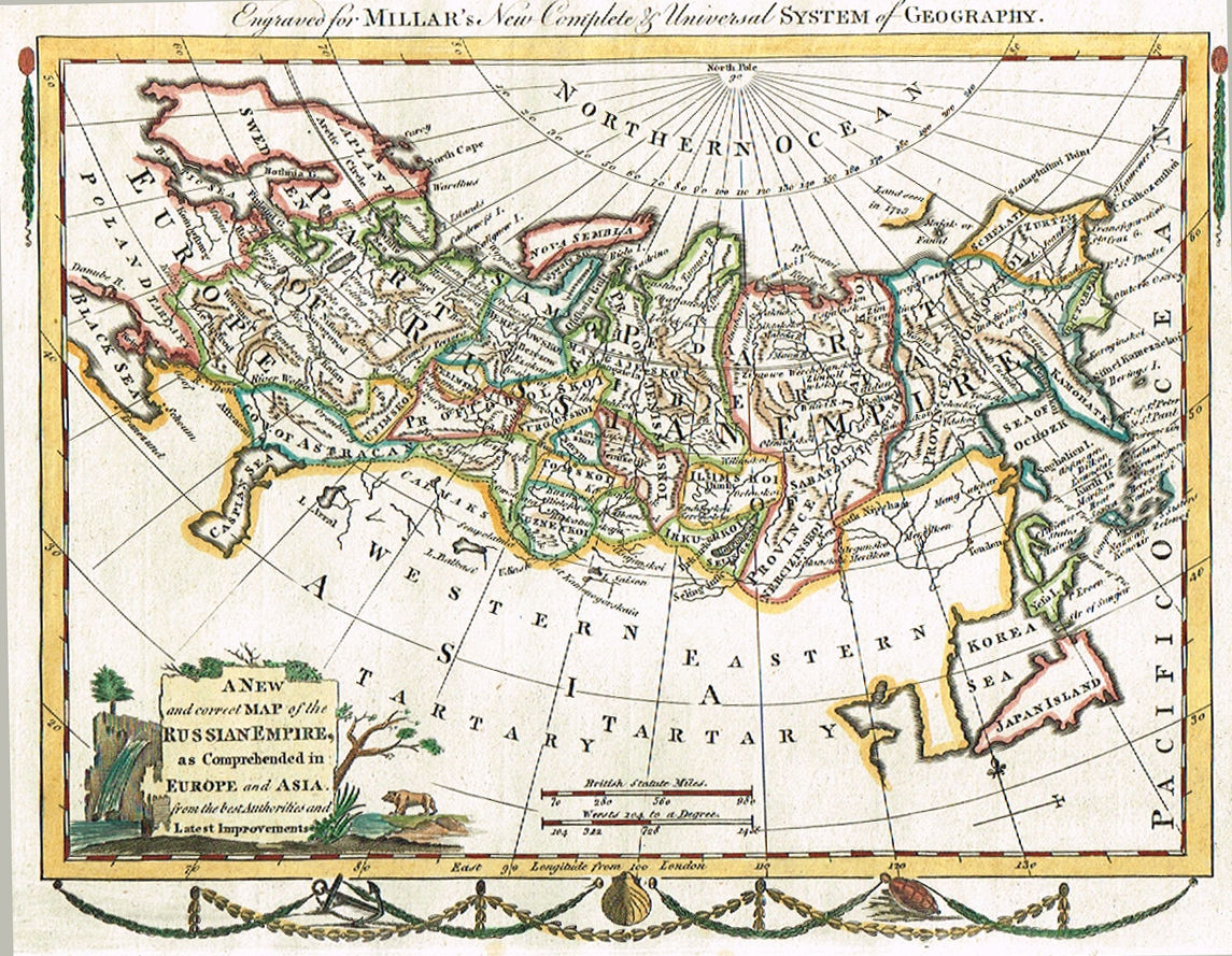 Complete Map Of Asia.Jonathan Potter Map A New And Correct Map Of The Russian Empire