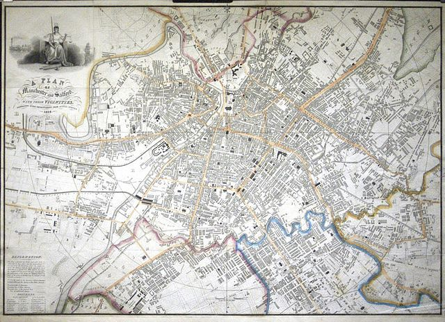 Jonathan Potter Map A Plan Of Manchester And Salford With Their