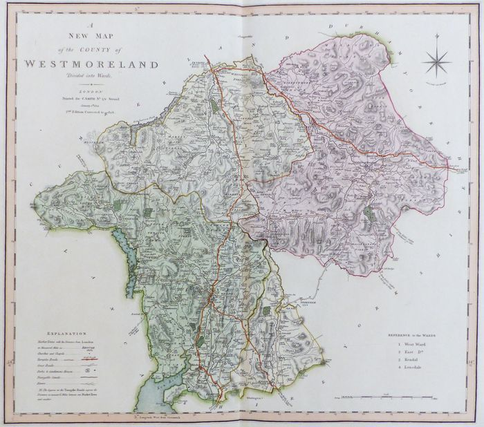 Jonathan Potter: Map : A New Map Of the County of