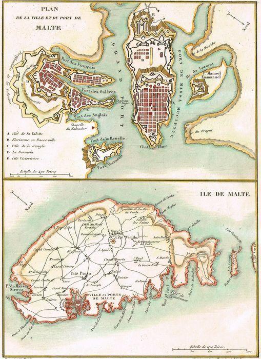 Jonathan potter map plan de la ville et du port de malte for Plan de malte