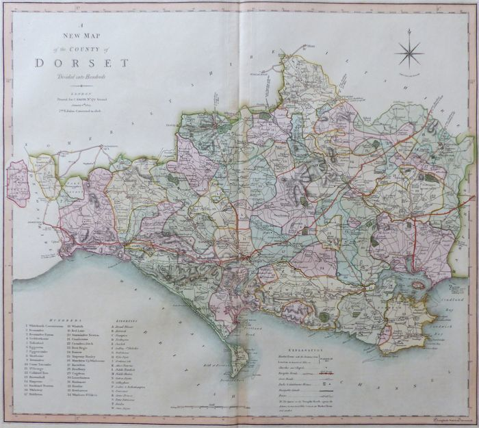 Map Of Uk Dorset.Jonathan Potter Map A New Map Of The County Of Dorset