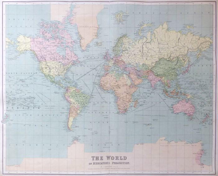 Jonathan Potter: Map : The World On Mercator's Projection on zoom in map, zoom map of asia, australia map zoomed in on a map of world, colormap of the world, zoomed map of russia in world, zoom world map with countries, zoom map usa, michelin map the world, back of the world, zoom map of europe, labels of the world, zoom map of israel, zoom map of africa,