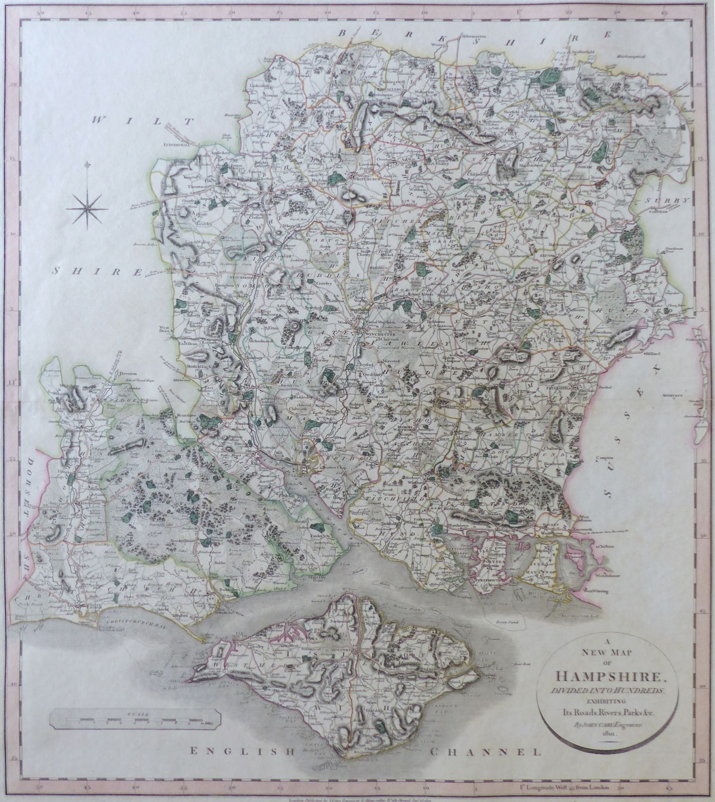 Map Of Uk Hampshire.Jonathan Potter Map A New Map Of Hampshire