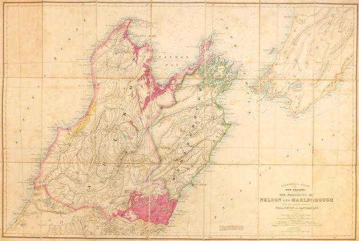 New Zealand Provinces Map.Jonathan Potter Map New Zealand The Provinces Of Nelson And