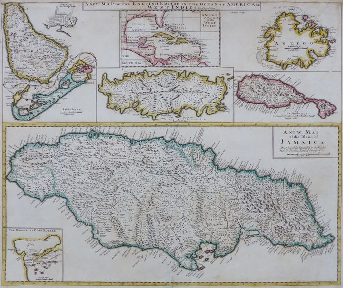 Jonathan Potter: Map : A New Map Of The English Empire In The Ocean ...