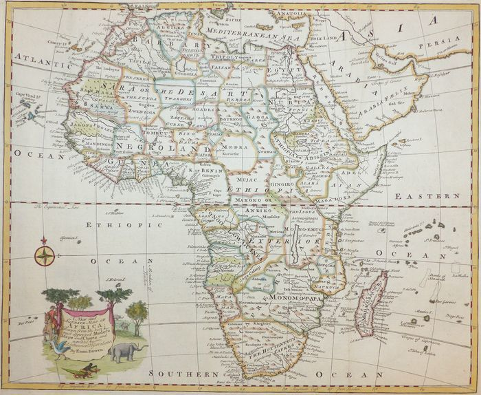 Accurate Map Of Africa.Jonathan Potter Map A New And Accurate Map Of Africa