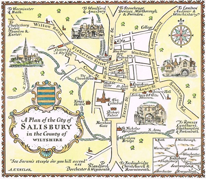 Map Of Salisbury Jonathan Potter: Map : A Plan Of The City of Salisbury in the