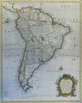 A Map Of South America With All The European Settlements ...